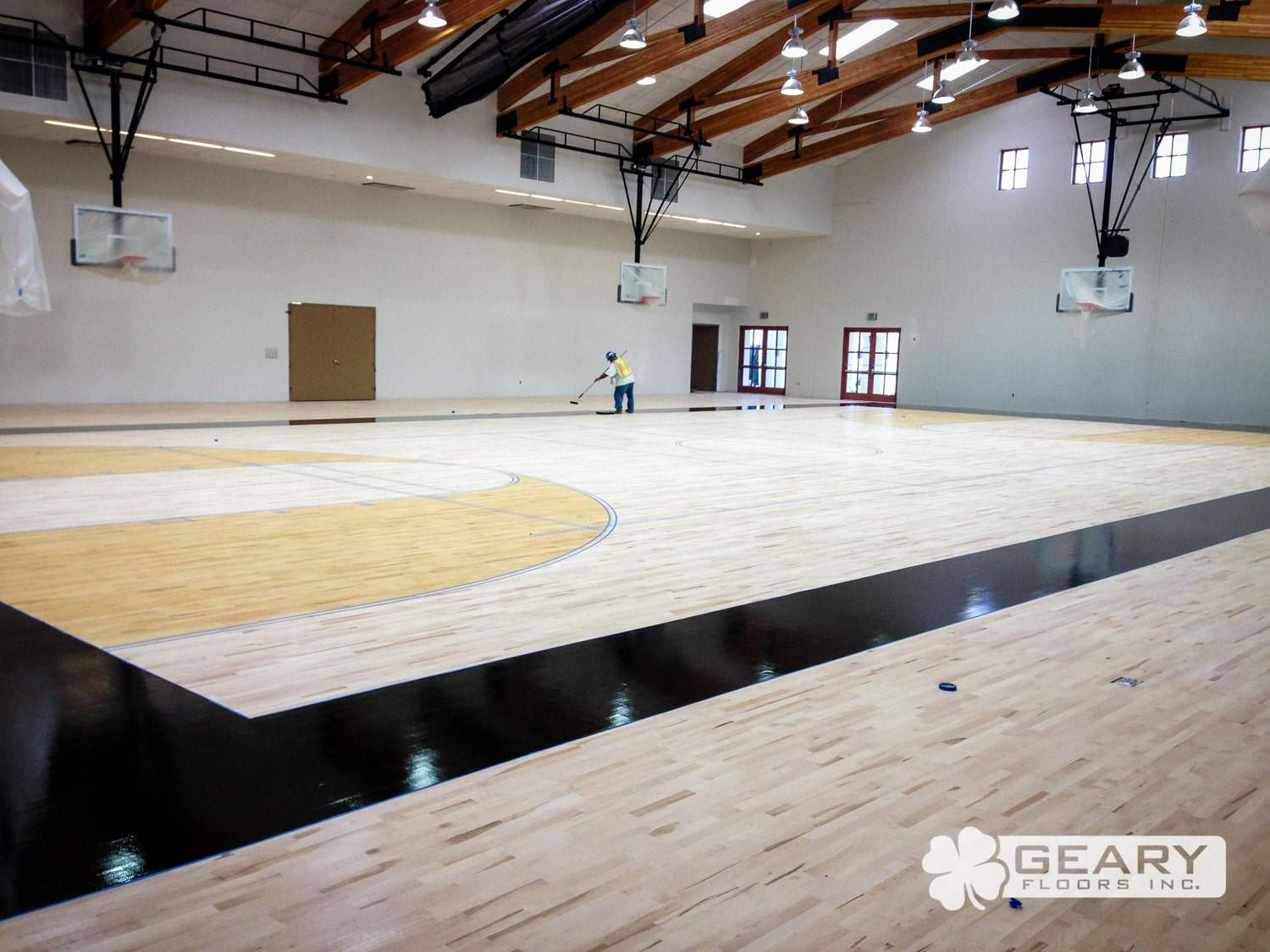 Army navy academy event center for Sports flooring